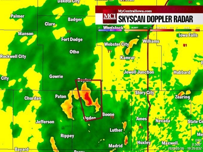 Tornado Warning continues NW Boone, SE Webster Counties